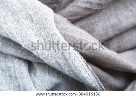 Crumpled fabric gray texture