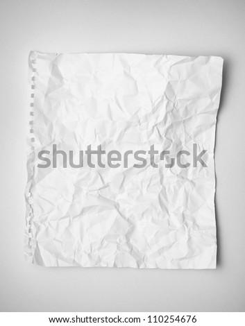 crumpled paper - stock photo