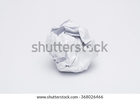 Crumpled paper ball - stock photo