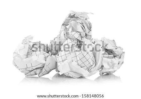 Crumpled paper balls - stock photo