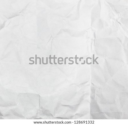 Crumpled paper sheet surface - stock photo