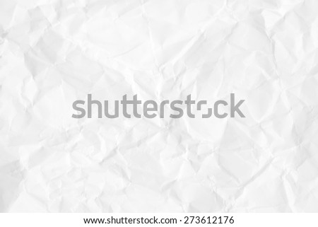 crumpled paper texture background, white background - stock photo