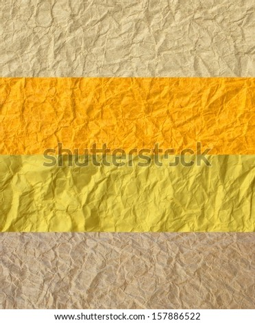 Crumpled paper texture - Collection background template for design work - stock photo
