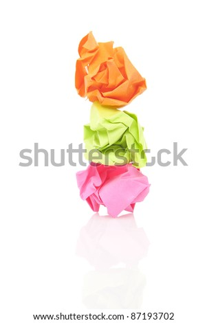 Crumpled paper wads - stock photo