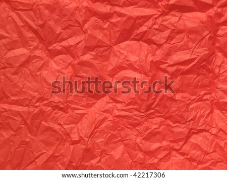 Crumpled red tissue paper