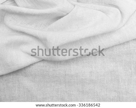 Crumpled white fabric texture
