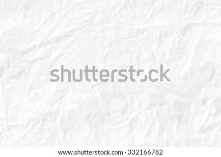 Crumpled white paper  - stock photo