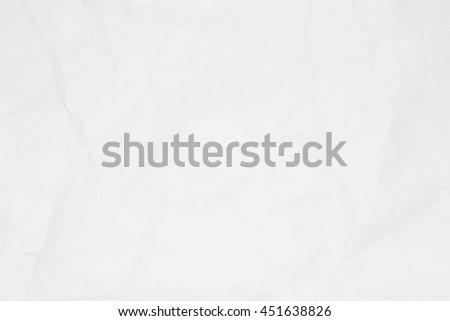 Crumpled white paper texture or paper background for design with copy space for text or image.