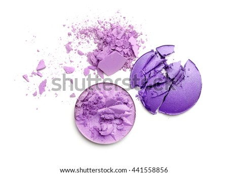 Crushed blush isolated on white  - stock photo