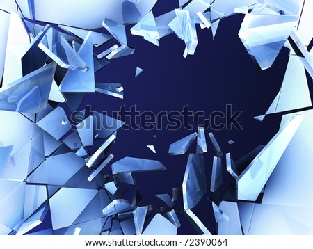 crushed ice - stock photo