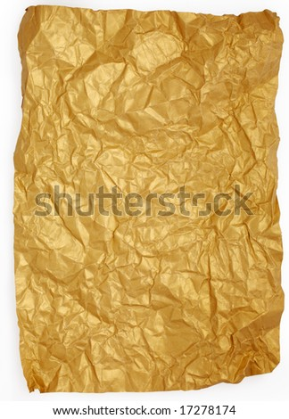 Crushed paper with clipping path - stock photo