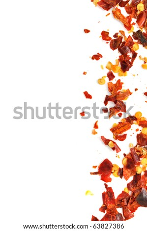 Crusher hot red chili pepper frame - stock photo