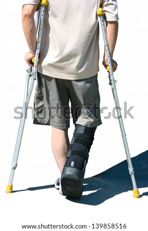 Crutch - stock photo