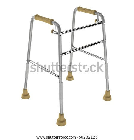 Crutches invalid - stock photo