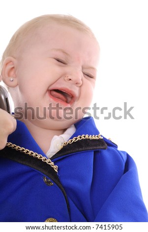 cry baby business - stock photo
