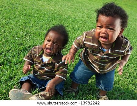 Crying Babies - stock photo