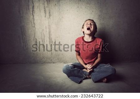 Crying Child - stock photo