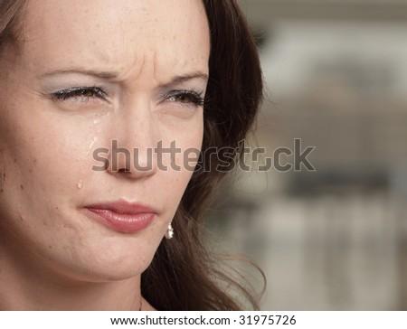 Crying woman - stock photo