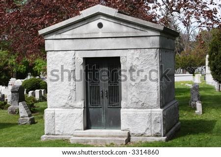 Crypt in Cemetery - stock photo