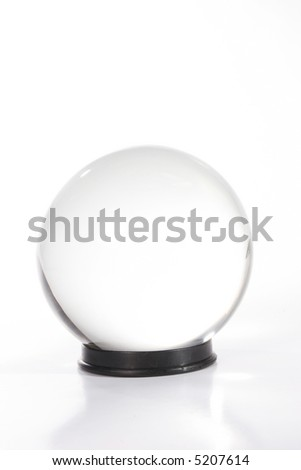 Crystal ball against white - stock photo