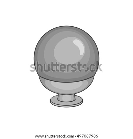 Crystal ball icon in black monochrome style isolated on white background. Tricks symbol  illustration