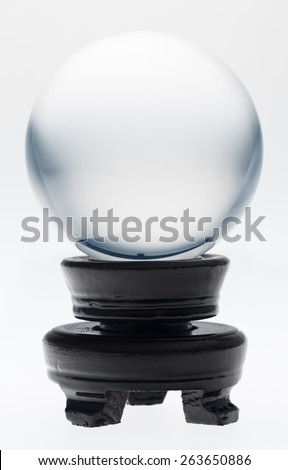Crystal ball on white background - stock photo
