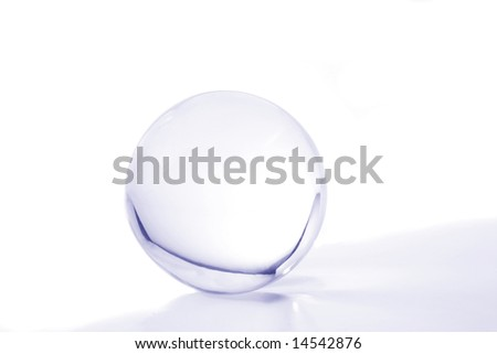 Crystal ball with blue light and shadow