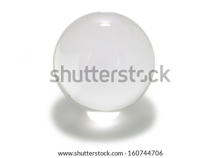 Crystal Ball with white background - stock photo