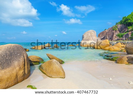 Crystal Bay on the island of Koh Samui in Thailand - stock photo