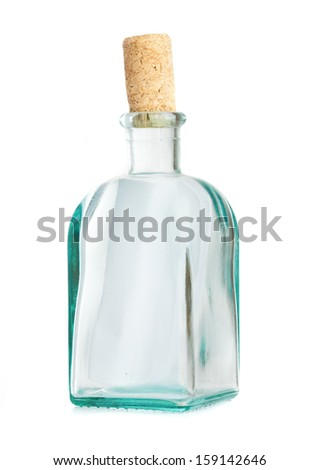 crystal bottle isolated on a white background