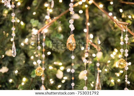 Crystal Christmas Tree Decorations