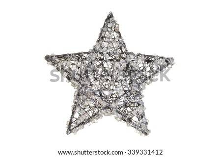 crystal christmas star - stock photo