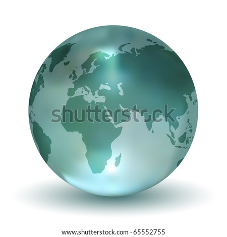 Crystal Earth Globe - stock photo