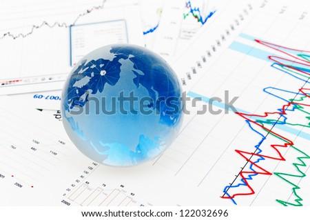Crystal Global on Financial Chart - stock photo