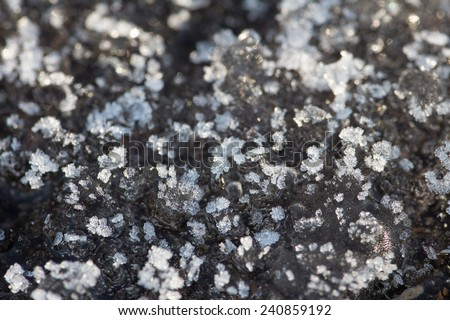 Crystal ice - stock photo