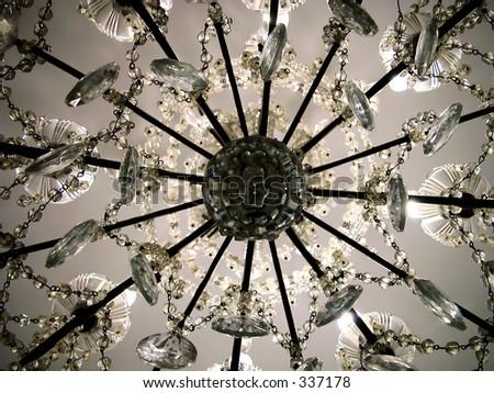 Crystal lamp - stock photo