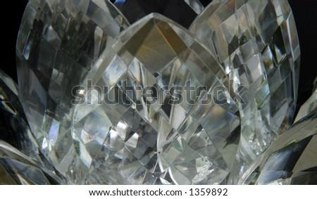 Crystal Lotus - Pastel tones - close-up - stock photo