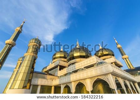 Crystal Mosque at Terengganu, Malaysia - stock photo