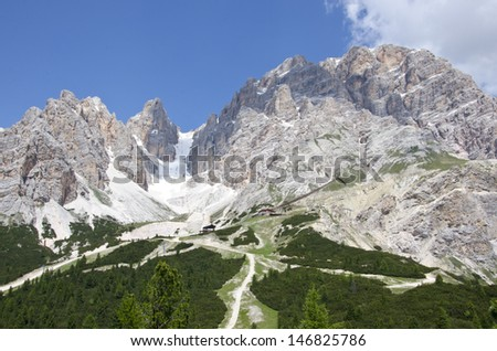 Crystal mountain of Dolomites