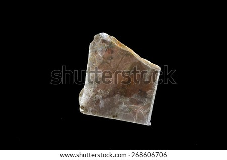 crystal muscovite  plate - stock photo