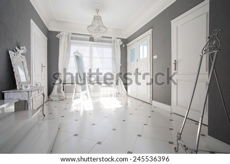 Crystal pendant in luxury and modern interior - stock photo
