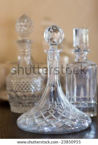 crystal pitcher - stock photo