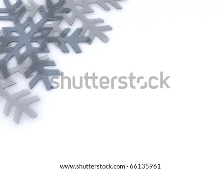 Crystal snowflake winter background