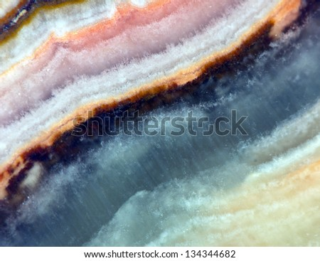 Crystal stone. Extreme closeup.Macro - stock photo