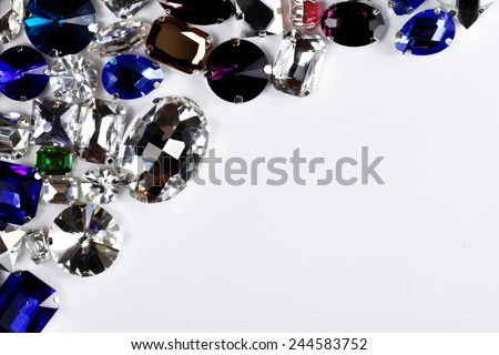 Crystal strasses - stock photo