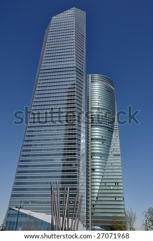 Crystal Tower, skyscraper of Madrid, placed in financial zone CTBA, Spain