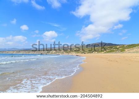 Crystal water on Lara beach near Paphos, Cyprus - stock photo