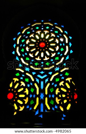 crystal window in church - stock photo
