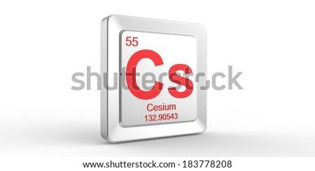 cs symbol 55 material for cesium chemical element of the periodic table - Periodic Table Symbol Ununquadium