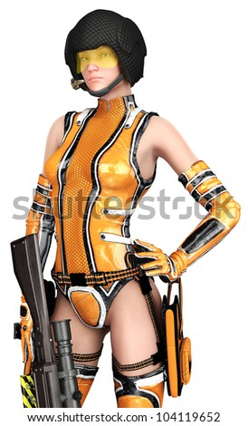 csi girl with thegun down closer - stock photo